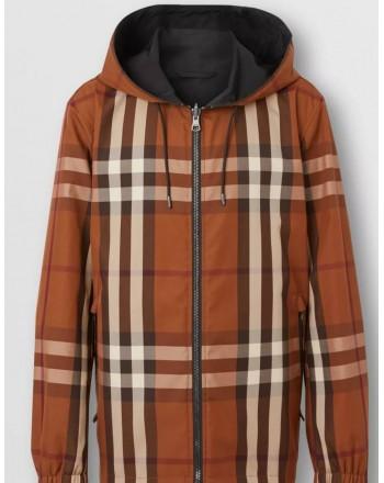 BURBERRY - Reversible jacket with hood - Dark Birch Brown
