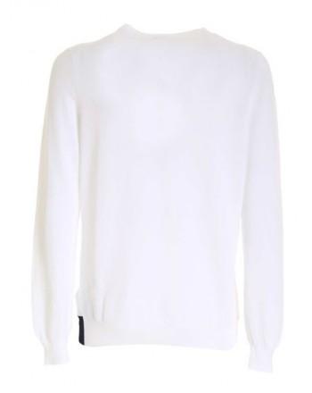 FAY - Piquet crewneck sweater - White -