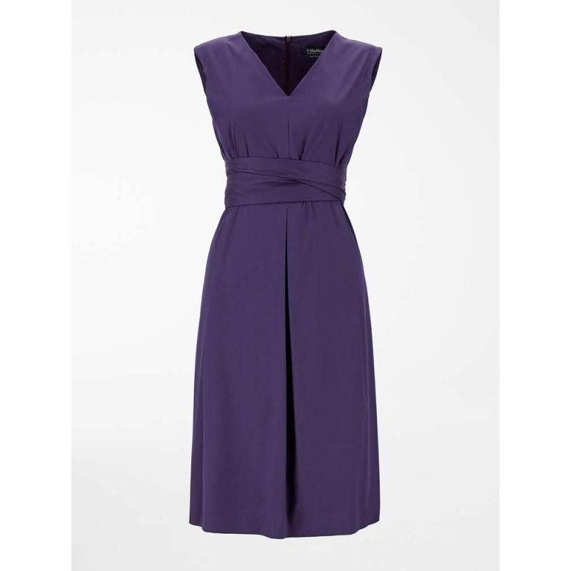 S MAX MARA - ESTREMO Cotton Dress - Africa Purple