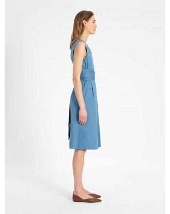 S MAX MARA - ESTREMO Cotton Dress - Africa Light Blue