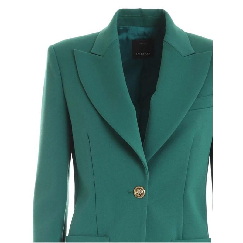 PINKO - Crepe Jacket CASSEGRAIN - GREEN