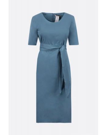 S MAX MARA - LIRICHE Stretch Cotton Dress - Africa Light Blue
