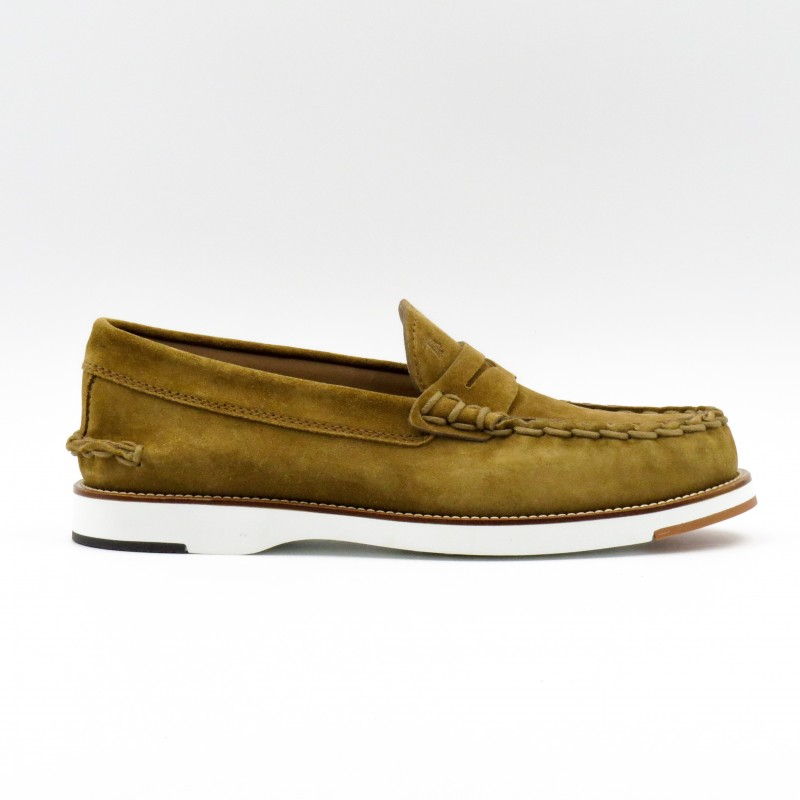 TOD'S - Suede Leather Loafer - Beige