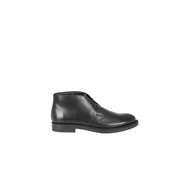 TOD'S - Lace-up ankle boots in brushed leather - Black -
