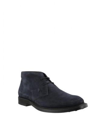 TOD'S - Suede Desert Boots - Dark Blue