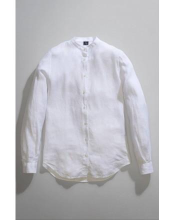 FAY - Camicia Collo alla Coreana -BIanco