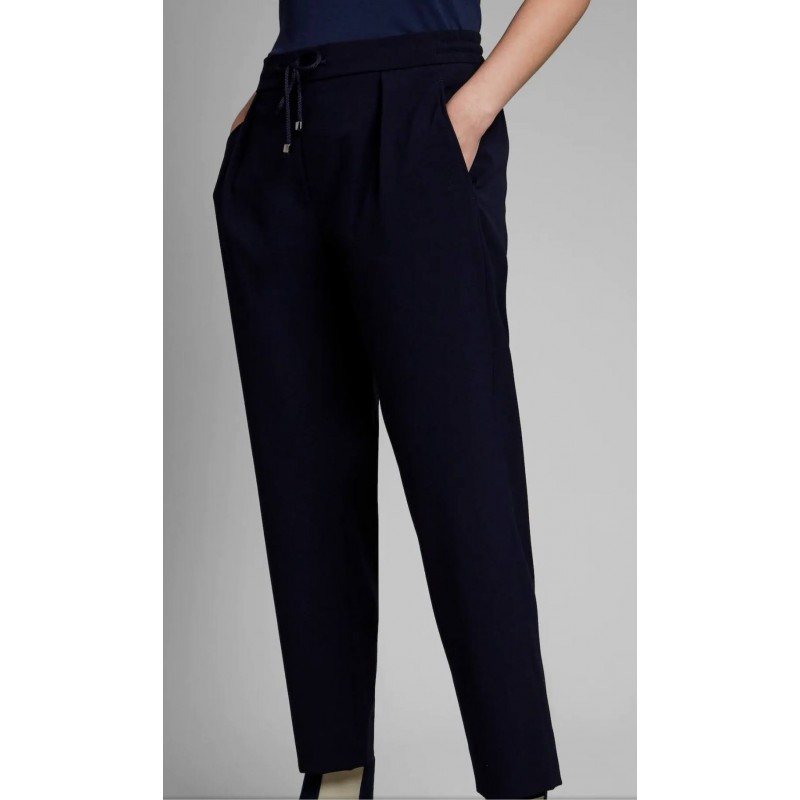 FAY - Easy Trousers - Petrol Blue