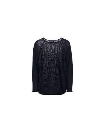 S.MAX MARA - BATH Linen yarn sweater - Blue