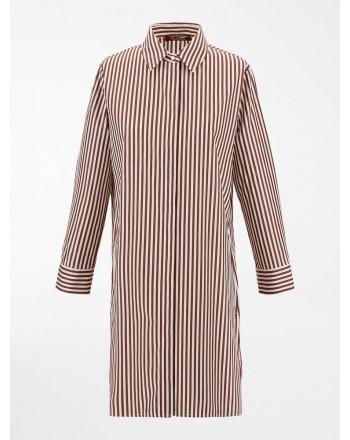 MAX MARA STUDIO  - GIARA Cotton Dress - Tobacco/White