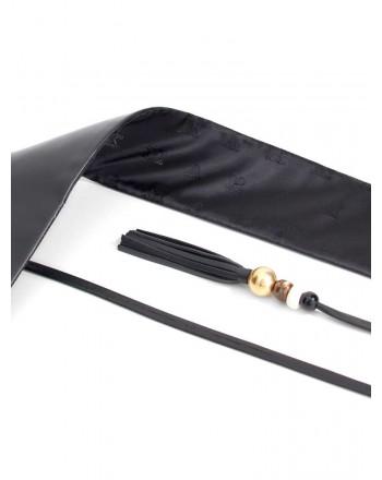 MAX MARA - ELIA  Leather Belt - Black
