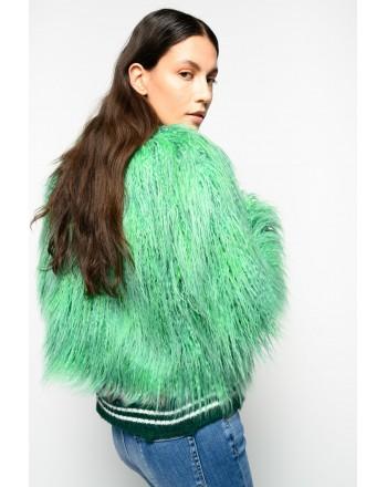 PINKO - Mongolia Faux Fur Jacket IONOSFERA - Green