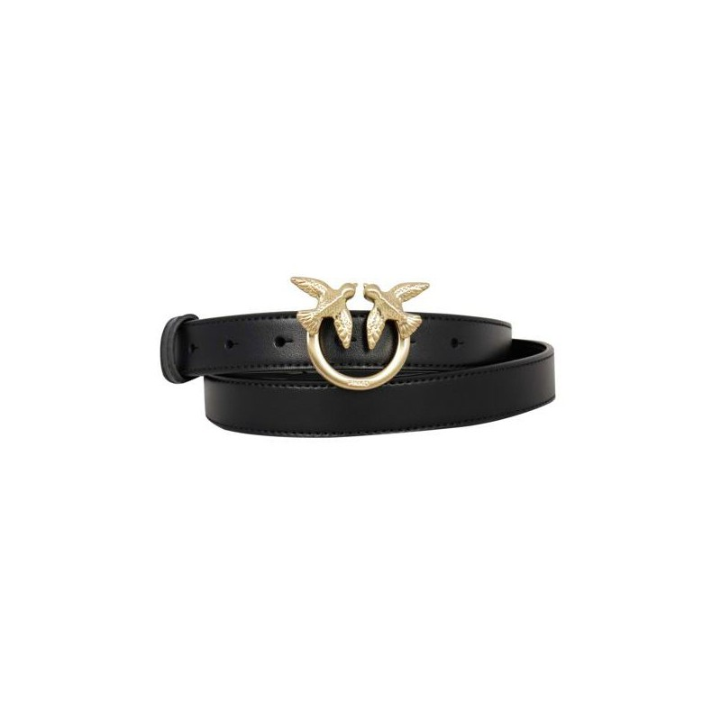 PINKO - Leather Belt BERRY SIMPLY SMALL - Black