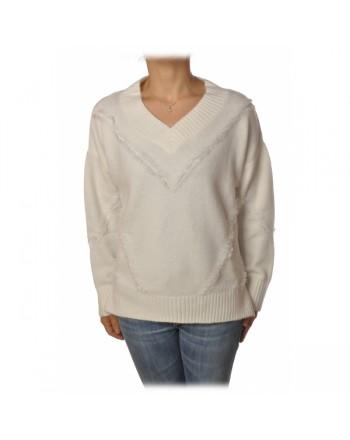 PINKO - Wool Knit MOZAMBICO - White