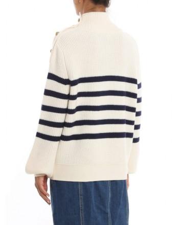 PINKO - Wool Pullover TUVALO - White/ Blue
