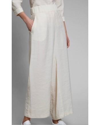 FAY - Pantalone Fluido - Bianco Lana