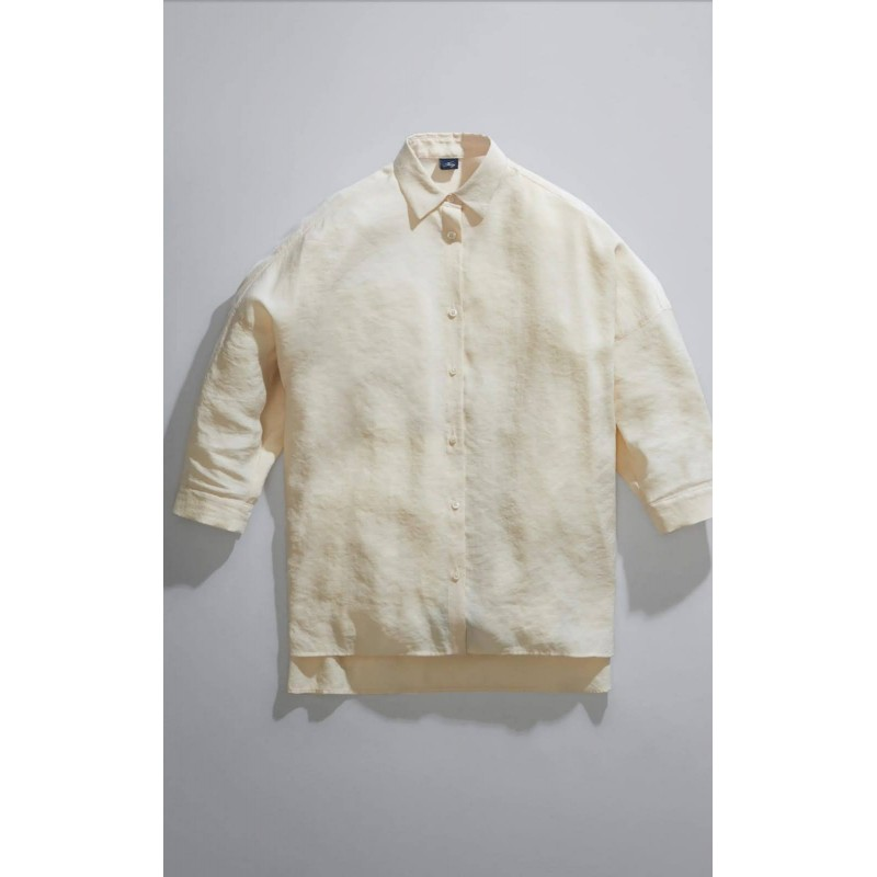 FAY - Camicia Over - Bianco Lana
