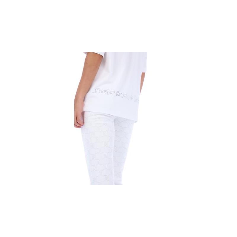 JUICY COUTURE - LOLA DIAMOND T-SHIRT - WHITE