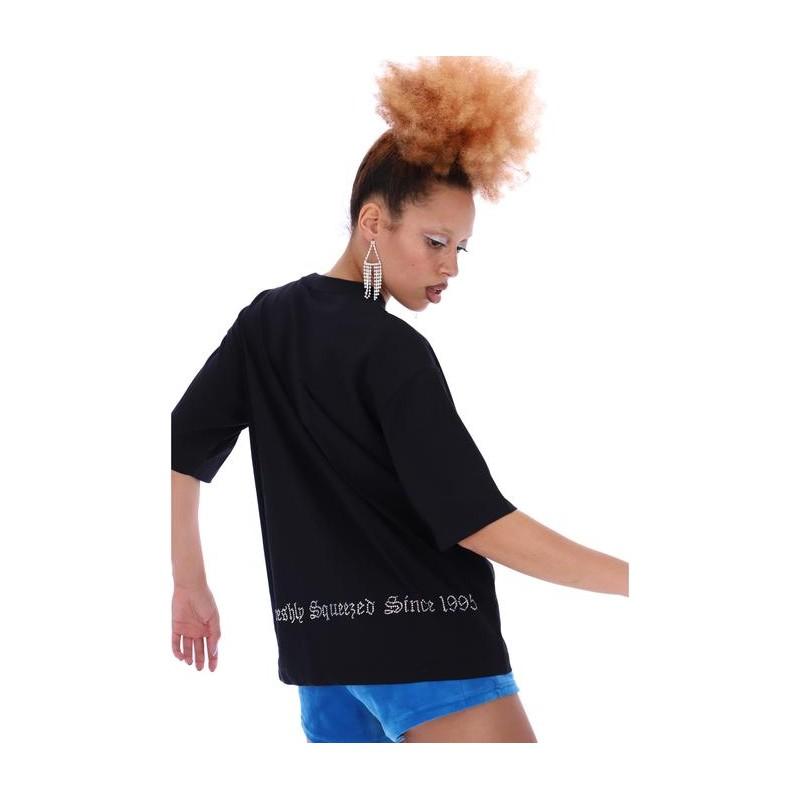 JUICY COUTURE - LOLA DIAMOND T-SHIRT - BLACK