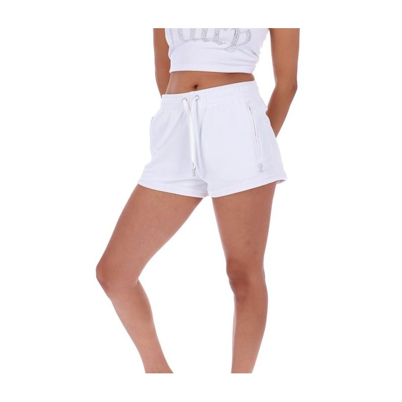 JUICY COUTURE - TAMIA TRACK SHORT - BIANCO