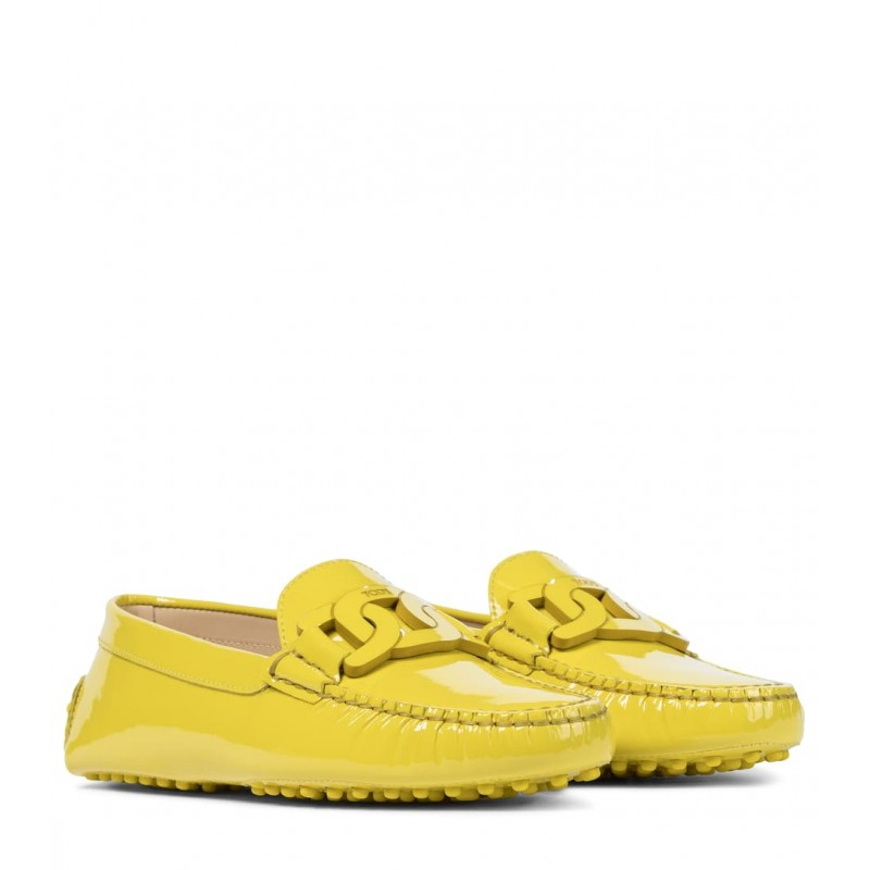 TOD'S -  Gommino patent leather loafers - Yellow queen