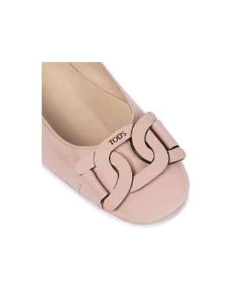 TOD'S - Patent leather ballet flats - Pink -