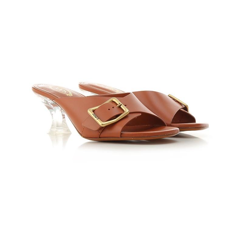 TOD'S - Plexiglass Heeled Sandals - Rust -