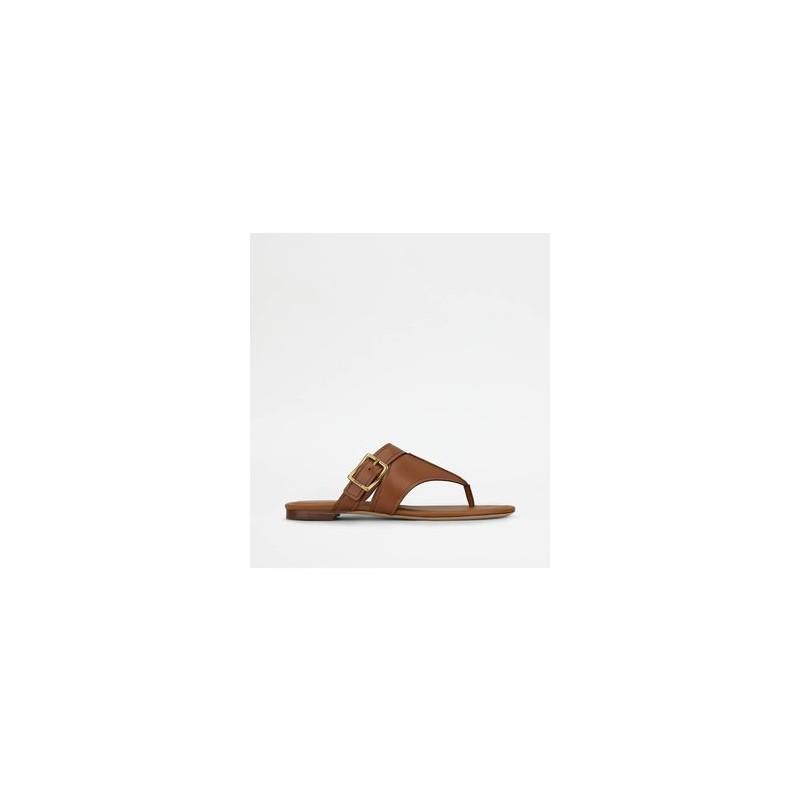 TOD'S - Thong sandal - brick -