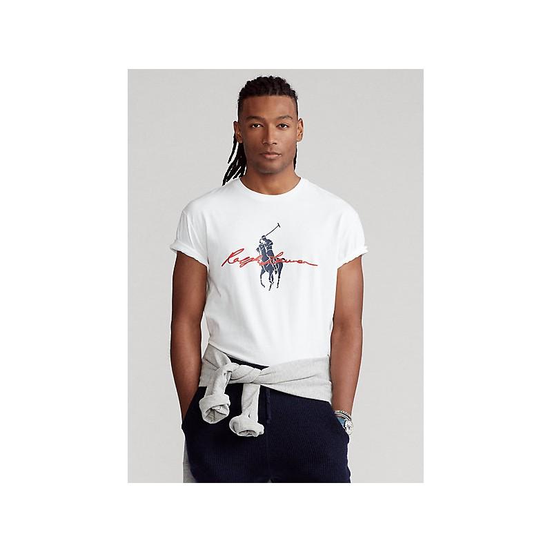 POLO RALPH LAUREN - Big Pony Custom Slim-Fit T-Shirt - White -