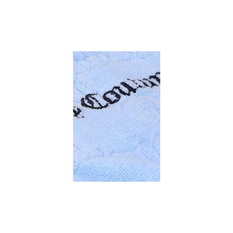 JUICY COUTURE - TANYA  FELPA IN SPUGNA JACQUARD MONOGRAM - CELESTE