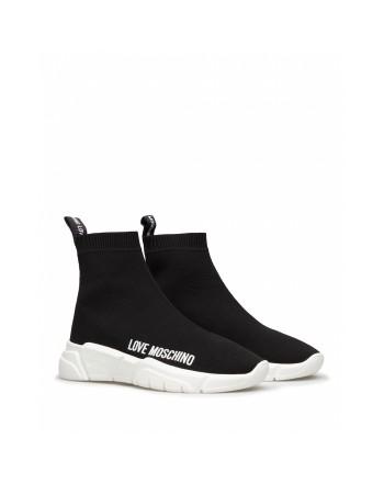 LOVE MOSCHINO - Sock Sneakers- Black