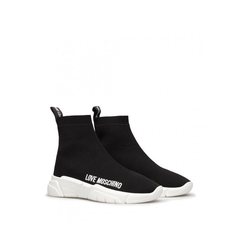 LOVE MOSCHINO - Sneakers Calza  - Nero