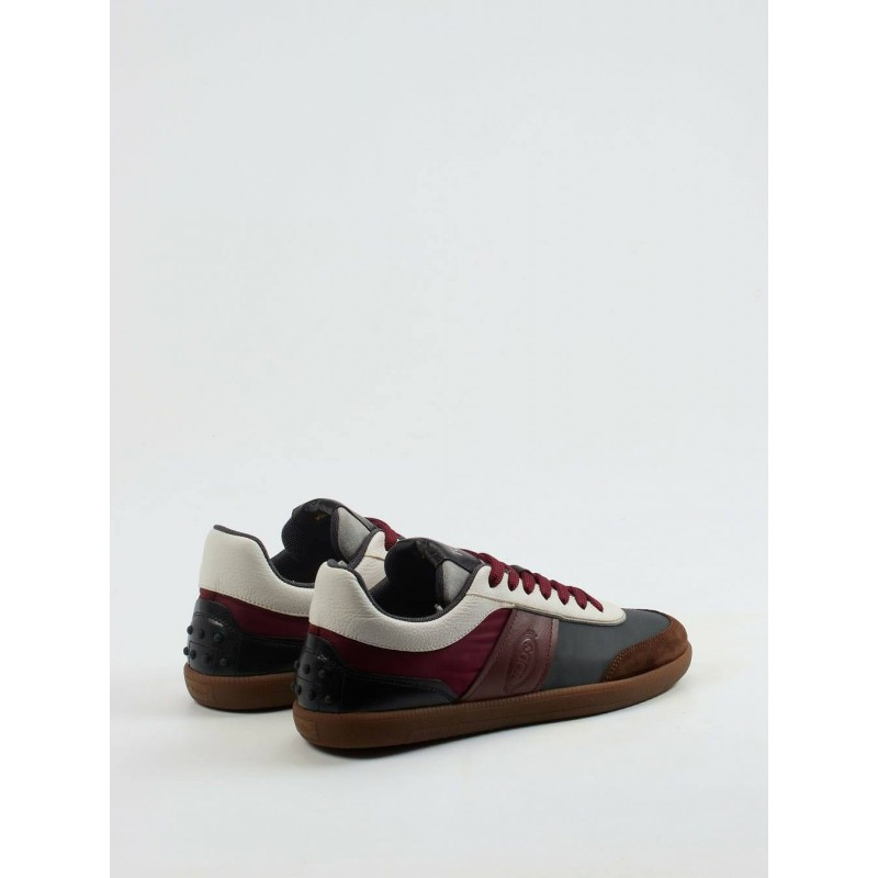 TOD'S Suede sneakers - Brown / Bordeaux / Gray