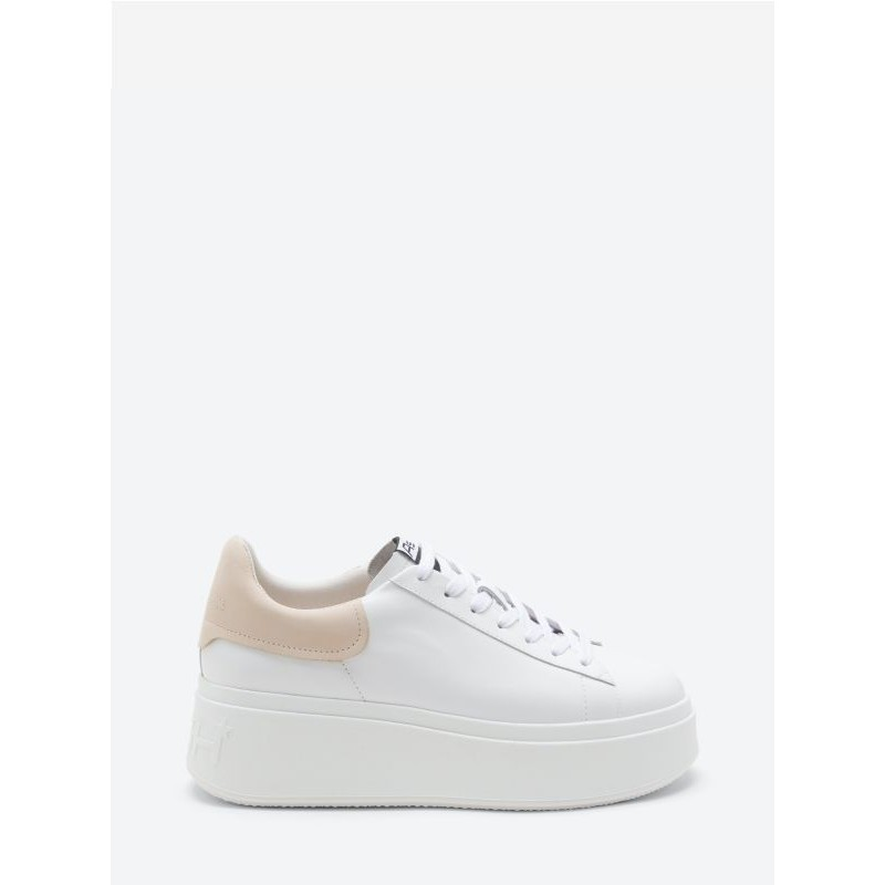 ASH- MOBY Sneakers - White/Pink Salt