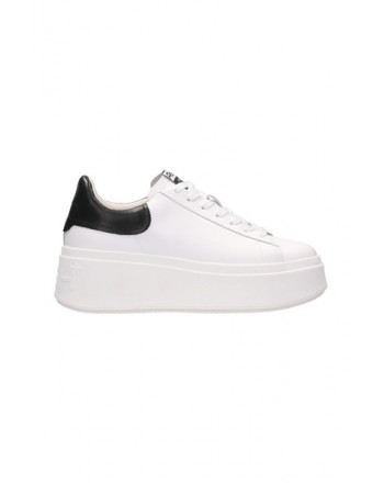 ASH- MOBY  Leather Sneakers - White/Black
