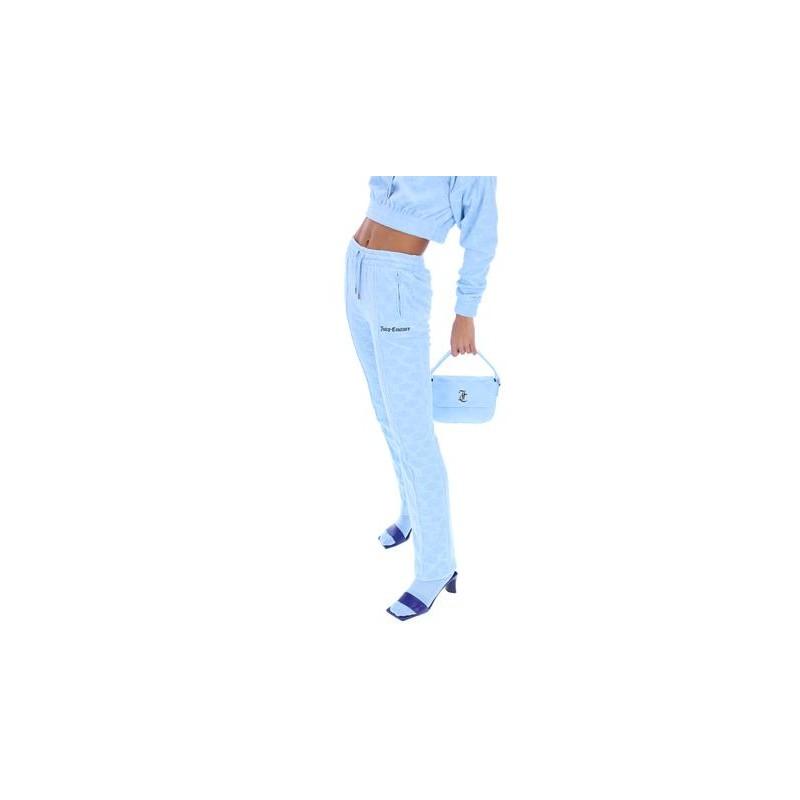 JUICY COUTURE - TINA MONOGRAM JACQUARD PANTS - POWDER BLUE