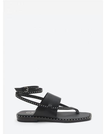 ASH - Flip flops with straps MEDUSASTUD - Black / Silver