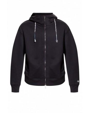 EMPORIO ARMANI - Sweatshirt with double slider closure - Blue