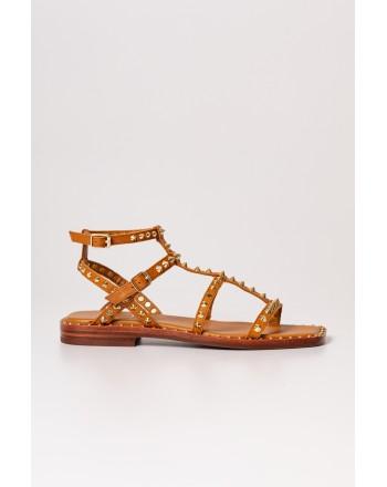 ASH - MAEVA Leather Sandal -Cinnamon/Ariel