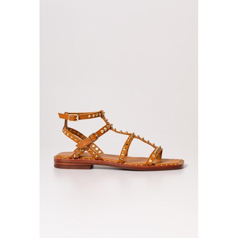 ASH - Sandalo in Pelle MAEVA -Cinnamon/Ariel