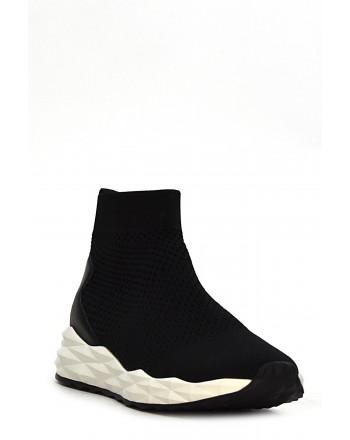 ASH - SOUND High Top Tech Fabric Sneakers - Black
