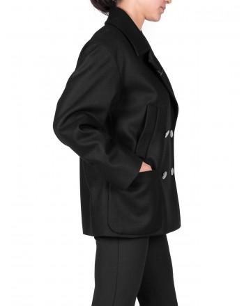 FAY - Cappotto doppio petto in Cashmere - Nero