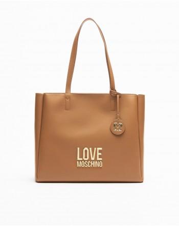LOVE MOSCHINO - Borsa con Logo - Cuoio -