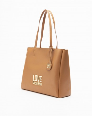LOVE MOSCHINO - Bag with Logo - Leather -
