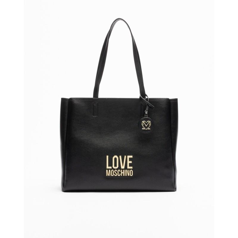 LOVE MOSCHINO - Bag with Logo - Black -
