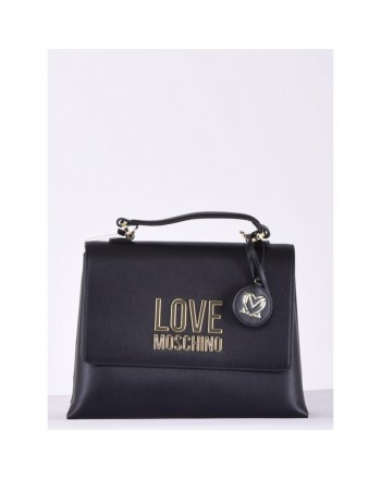 LOVE MOSCHINO - Borsa a mano Gold Metal Logo - Nero -