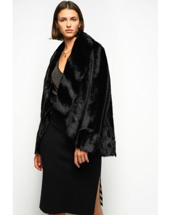 PINKO - Faux Fur  ODDONE Jacket - Bisquit Brown