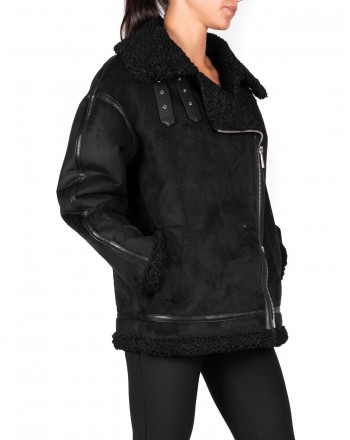 PINKO - WINNIE Jacket in Eco shearling - Black