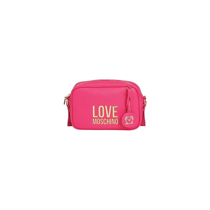 LOVE MOSCHINO - Camera Bag Gold Metal Logo - Fucsia -
