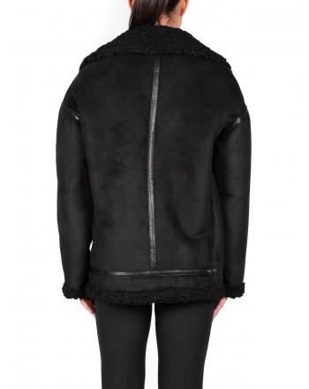 PINKO - WINNIE Jacket in Eco shearling - Black