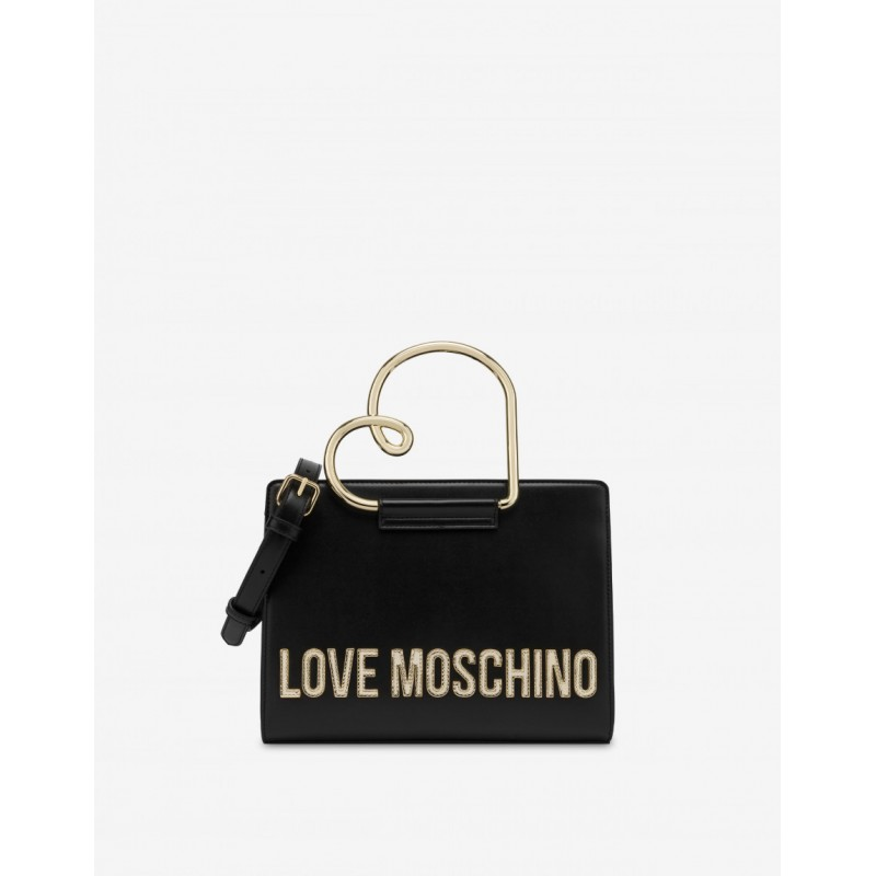 LOVE MOSCHINO Borsa a mano  HEART HANDLE - Nero